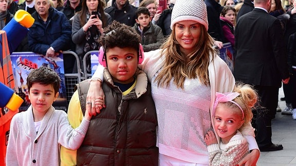 unior Andre, Harvey Price, Katie Price and Princess Andre