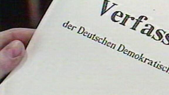 Verfassung der DDR - Entwurf 1990
