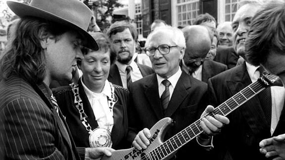 Udo Lindenberg und Erich Honecker 1987