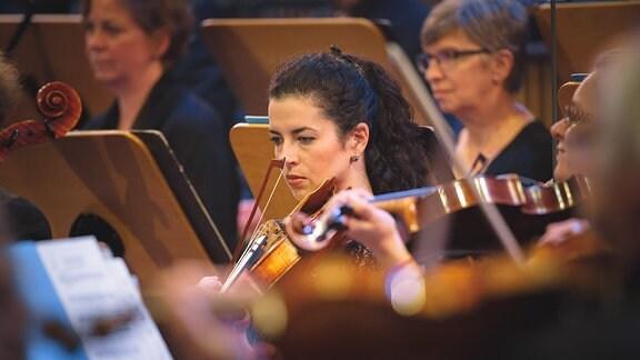 Streicher beim Finalkonzert zum Händel-Experiment