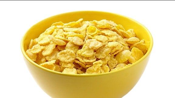 eine Schüssel mit Cornflakes