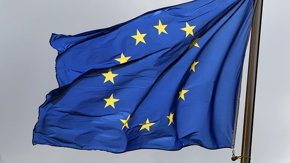 Eine Europaflagge