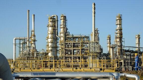 Die Total-Erdölraffinerie in Leuna