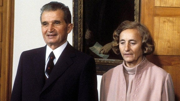 Elena and Nicolae Ceausescu, 1984.