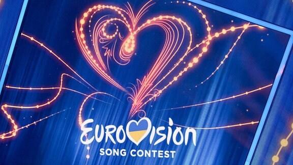 Eurovision-Logo beim Vorentscheid im ukrainischen Kiew