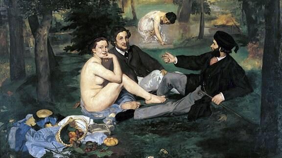 Frühstück im Grünen von Edouard Manet, 1863