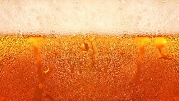Nahaufnahme von einem Glas Bier