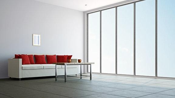Wohnzimmer in einer Designerwohnung