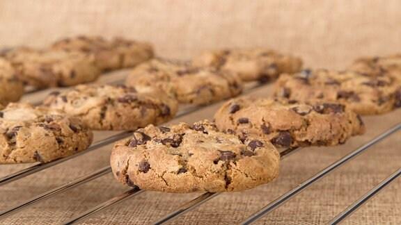 Cookies auf einem Ofenrost.