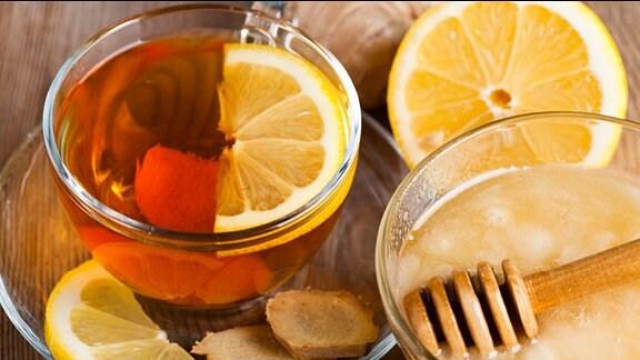 Ingwer, Zitrone und Honig