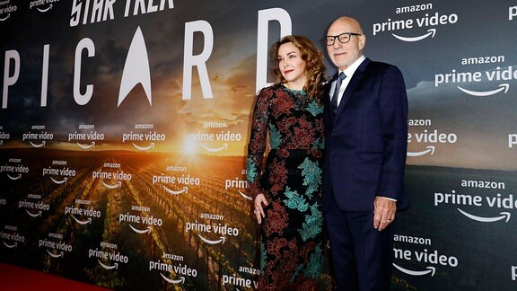 Sunny Ozell mit Ehemann Patrick Stewart beim Fan-Screening der Amazon Original Serie Star Trek: Picard im Zoo Palast.