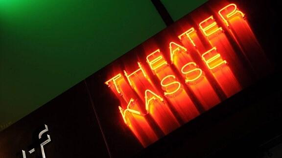 Leuchtschrift - Theaterkasse