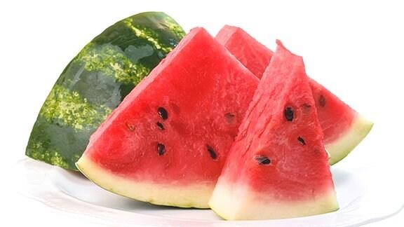 Melone aufgeschnitten.
