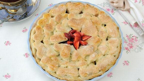 Croustarde - Kuchen mit Erdbeeren