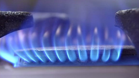 Flamme auf einem Gasherd