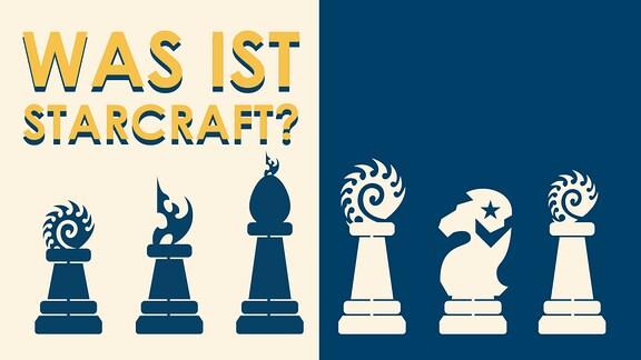Schachfiguren und Frage: Was ist Starcraft?