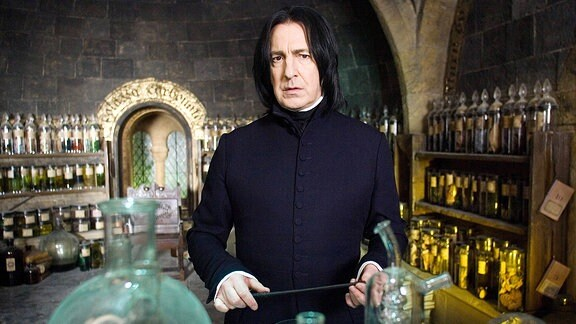 Alan Rickman als Snape in Harry Potter.