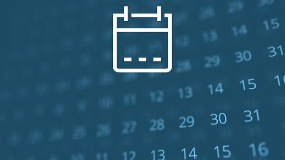 Auf einem Smartphone ist die App von MDR AKTUELL geöffnet. Hinter dem Smartphone liegen Kalenderblätter willkürlich verteilt.