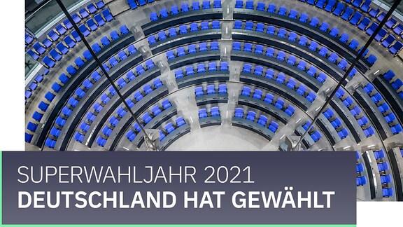 """Teaserbild mit der Aufschrift """"Deutschland wählt. Superwahljahr 2021."""""""