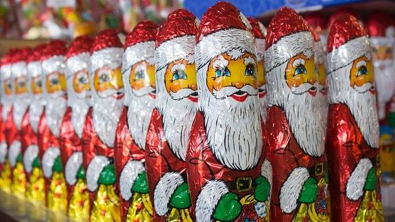 Schokoladen-Weihnachsmänner