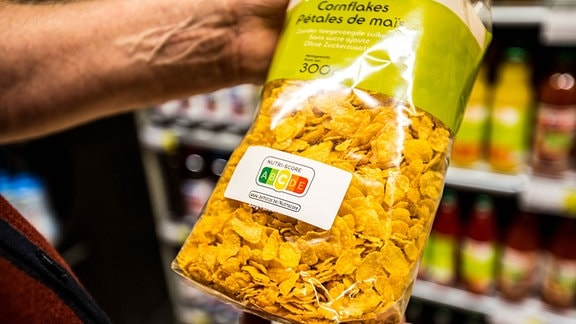 Nutri-Score auf einer Cornflakesverpackung