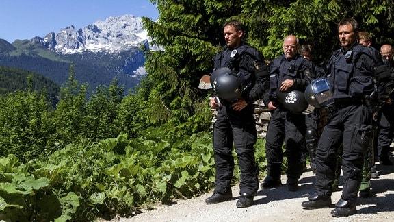 Polizei bei G7-Gipfel auf Schloss Elmau 2015