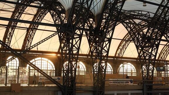 Dach des Dresdner Hauptbahnhofes