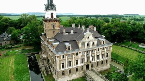 Schloss von Roztoka - Luftaufnahme
