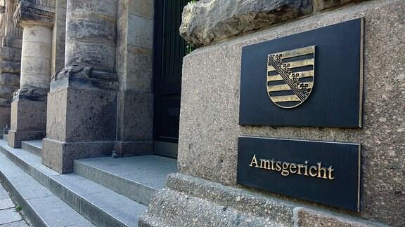 Eingang des Amtsgerichts Leipzig