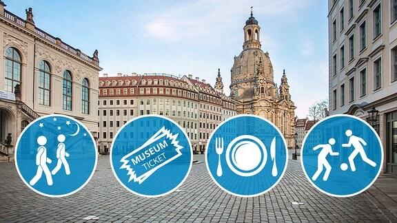 Collage - ab sofort geltende Lockerungen in Dresden