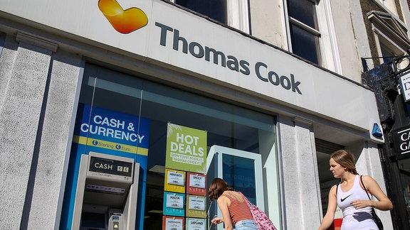 Eine Niederlassung von Thomas Cook im Zentrum von London.