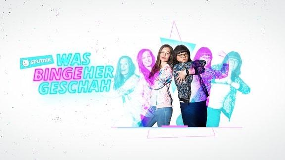 """Die Moderatorinnen Theresa Itzinger und Charlotte Schulze mit dem neuen Format """"Was bingeher geschah"""""""