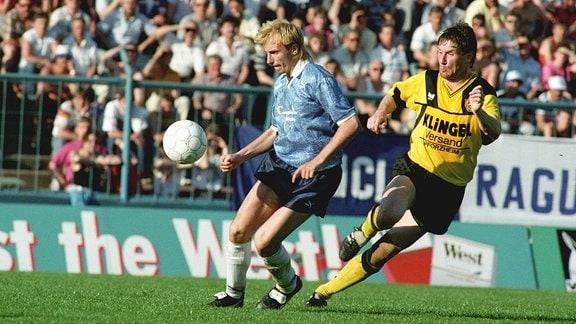 Heiko Lässig 1990 gegen Andreas Trautmann