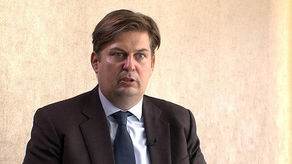 Dr. Maximilian Krah, AfD-Mitglied Dresden, Jurist, im Gespärch mit MDR Sachsen, Sachsenspiegel und Sachsenradion