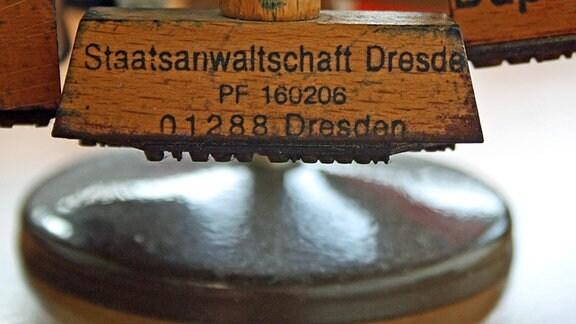 Stempel der Staatsanwaltschaft Dresden