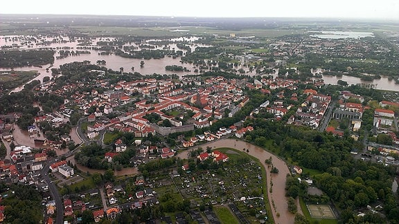 Hochwasser in Eilenburg.