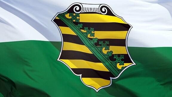 Eine Sachsen-Fahne