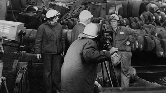 Filmarbeiten im SKET-Werk 1977.