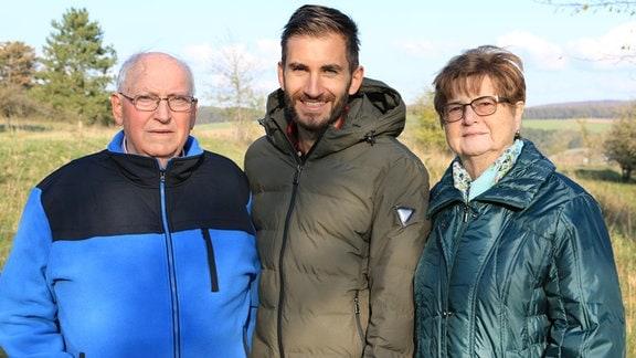 Lukas' Großeltern, Herman und Maria Herwig, haben jahrzehntelang nur wenige hundert Meter von der deutsch-deutschen Grenze entfernt gelebt.