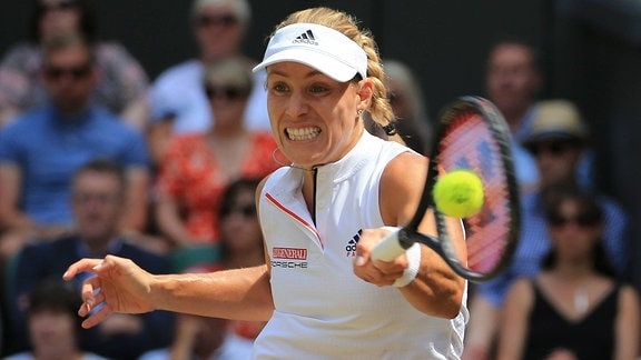 Tennis: Angelique Kerber in Wimbledon 2018