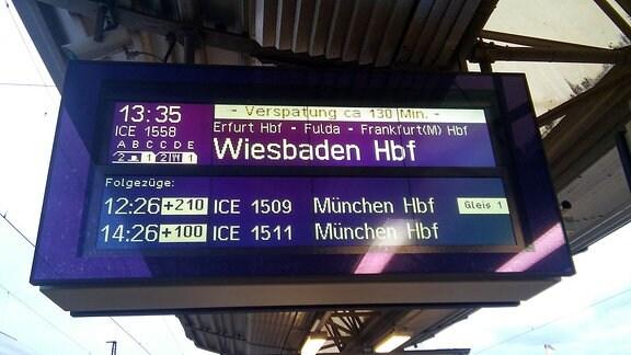Zugverspätungen zwischen Leipzig-Erfurt-Frankfurt