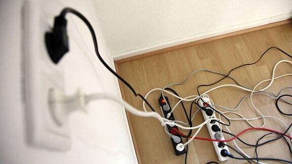 Mehrfachsteckdosenleiste, zum Anschluss von mehreren elektrischen Geräten