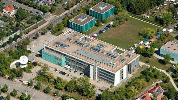 Das Landesfunkhaus Thüringen des Mitteldeutschen Rundfunks (MDR) in Erfurt.