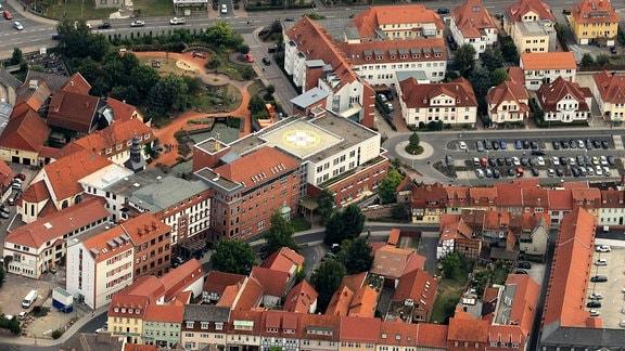 Gebiet um die Windische Gasse mit Eichsfeld-Klinikum Haus St.Vincent