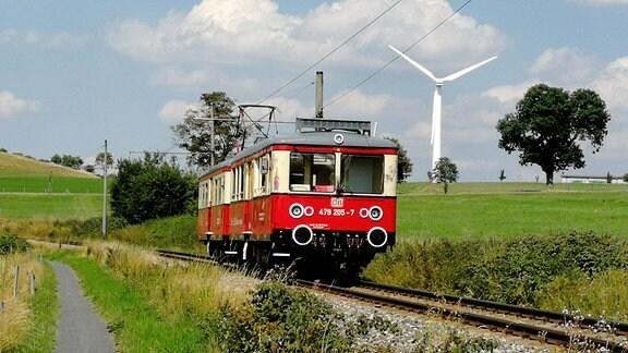 Die Obweißbacher Bergbahn auf der Strecke von Lichtenhain nach Cursdorf
