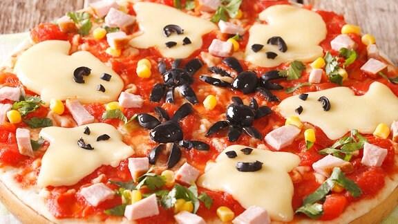 Pizza, Halloween, Gespenster, Gespensterpizza