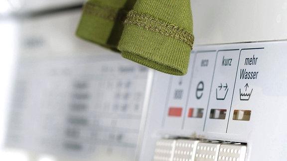Das Bedienpanel einer Waschmaschine