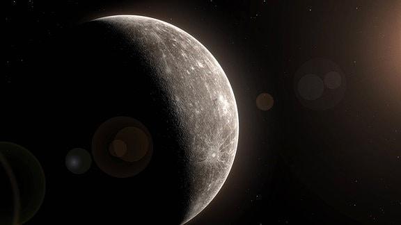 Computergrafik des Planeten Merkur