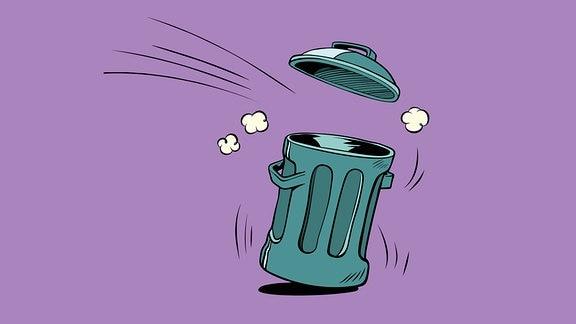 Illustration eines Mülleimers