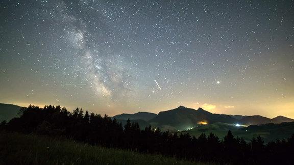 Sternenhimmel mit Perseiden
